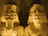 Detail of seated colossi of Ramesses II at Abu Simbel temple Photographic Print by Franz-Marc Frei