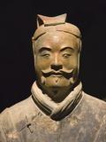 Keren Su - Terra cotta warrior with color still remaining, Emperor Qin Shihuangdi's Tomb, Xian, Shaanxi, China - Fotografik Baskı