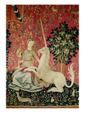 Detail from The Lady and the Unicorn: Sight Tapestry Giclee Print