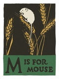 M is for mouse Giclee Print
