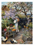 An English Cottage Garden Giclee Print by William Stephen Coleman