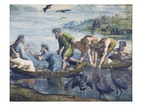 Cartoon for The Miraculous Draught of Fishes Giclee Print by  Raphael