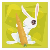 Anime Rabbit Giclee Print by Harry Briggs