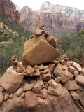 Rock pile in Zion National Park, Utah USA Photographic Print