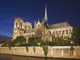 Notre Dame Cathedral at twilight Photographic Print by Peet Simard