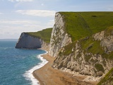 Cliffs above Lulworth Cove on Dorset's Jurassic Coast Photographic Print by Paul Thompson