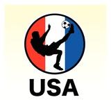 USA Soccer Giclée-Druck