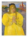 Young Christian Girl (Bretonne en Priere) Impression giclée par Paul Gauguin