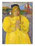 Young Christian Girl (Bretonne en Priere) Giclee Print by Paul Gauguin