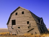 Abandoned Farm Buildings, Canadian Prairies, Canada Photographic Print by John E Marriott