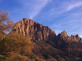 USA, Utah, Zion National Park, Cliffs Along Virgin River Lmina fotogrfica por Chris Cheadle