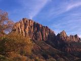 USA, Utah, Zion National Park, Cliffs Along Virgin River Photographic Print by Chris Cheadle