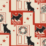 Do Not Open Until Christmas Pattern with Dog Photographic Print