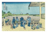 Sazai Hall of the Five-Hundred-Rakan Temple Giclee Print by Katsushika Hokusai