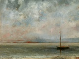 Clouds over Lake Geneva Photographic Print by Gustave Courbet