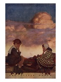 The Little Peach Impression giclée par Maxfield Parrish