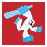 Abominable Snowman with Club Giclee Print by Sabet Brands