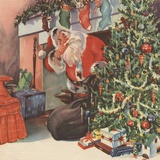 Santa Claus delivering presents Photographie