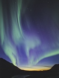 Northern Lights (aurora Borealis), British Columbia, Canada. Photographic Print by John E Marriott