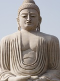 Low angle view of a statue of Buddha, The Great Buddha Statue, Bodhgaya, Gaya, Bihar, India Photographic Print