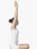 Woman practicing yoga Photographic Print