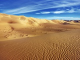 Sand dunes in Erg Admer in Algeria Photographic Print by Frank Krahmer