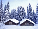 Barn in Lapland in Winter Photographic Print by Bruno Ehrs