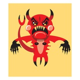 Angry devil Giclee Print by Matthew Laznicka