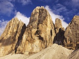 Tre Cime di Lavaredo in the Sexten Dolomites in Italy Photographic Print by Frank Krahmer