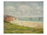 Le Crotoy Looking Upstream Giclee Print by Georges Seurat