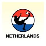 Netherlands Soccer Giclee Print