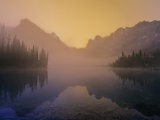 Lake O'Hara at Dawn, Yoho National Park, British Columbia, Canada. Photographic Print by John E Marriott