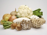 Stack of fresh vegetables Photographic Print