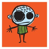 Cartoon man with arms outstretched Lámina giclée por Sabet Brands