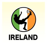 Ireland Soccer Reproduction proc&#233;d&#233; gicl&#233;e