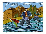 Fly Fishing Giclee Print