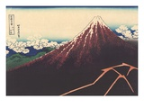 A Shower Below the Summit Giclee Print by Katsushika Hokusai