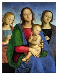 Madonna and Child with St. Catherine and St. Rosa Giclee Print by Pietro Perugino