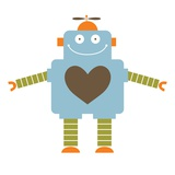 Robot in love Giclee Print by Anne Bryant