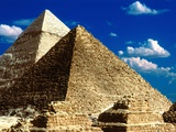 Pyramids of Giza Photographic Print by Larry Lee