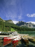 Emerald Lake and Canoe Docks, Yoho National Park, British Columbia, Canada. Photographic Print by John E Marriott