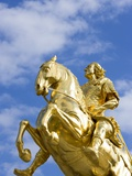 Golden Rider Equestrian Statue in Dresden Photographic Print by Paul Seheult