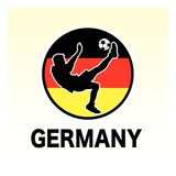 Germany Soccer Giclee Print