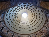 Interior of the dome on the Pantheon in Rome Lámina fotográfica por Sylvain Sonnet