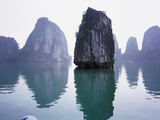 Rock formations in Halong Bay Photographic Print by Marie Hickman