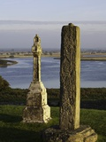 Gravestones at Clonmacnoise monastery Photographic Print by Doug Pearson
