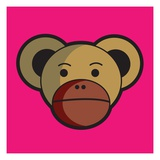 Monkey face Giclee Print by Sabet Brands