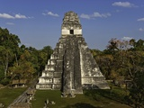 Temple I or Temple of the Giant Jaguar at Tikal Photographic Print by Danny Lehman
