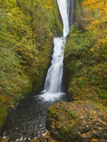 Bridal Veil Falls in autumn Photographic Print by John Eastcott & Yva Momatiuk