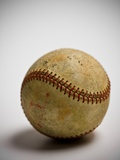 Close-up of worn baseball Photographic Print by Sung-Il Kim